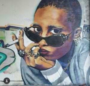 Graffitis - Retrato Adwoa