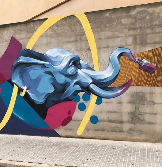 Mural elefante