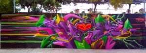Graffiti mural - Mural 3D