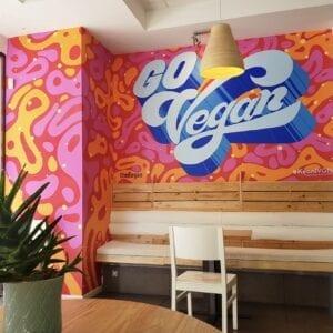 """Graffiti mural - Mural """"Go Vegan"""""""
