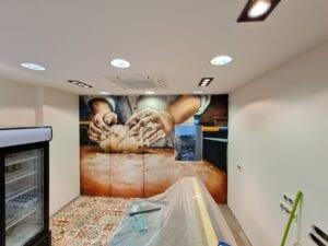 Grafiteros a domicilio - Detalle realista panaderia