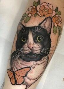 Tatuajes de gatos - Tatutaje Gato New School