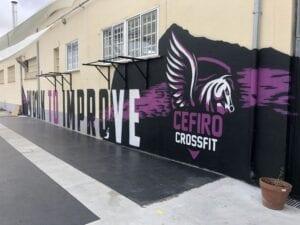 Graffiti comercial en Salamanca - Graffiti gimnasio Crossfit Cefiro