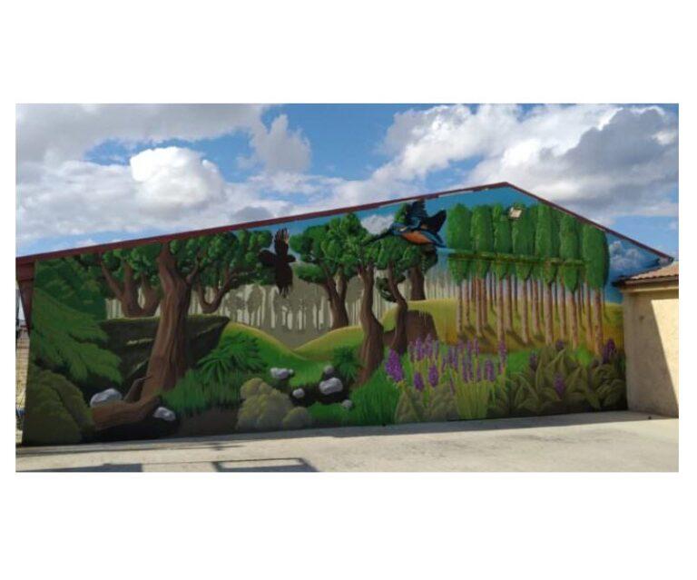 Mural: Decoración nave con graffiti en Miedes (Zaragoza)