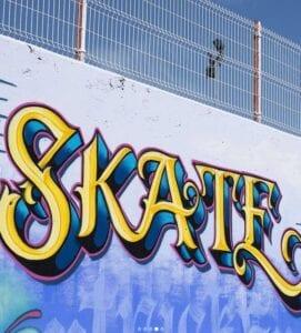 Graffiti comercial en Huesca - SKATE PARK Calatayud (Zaragoza)