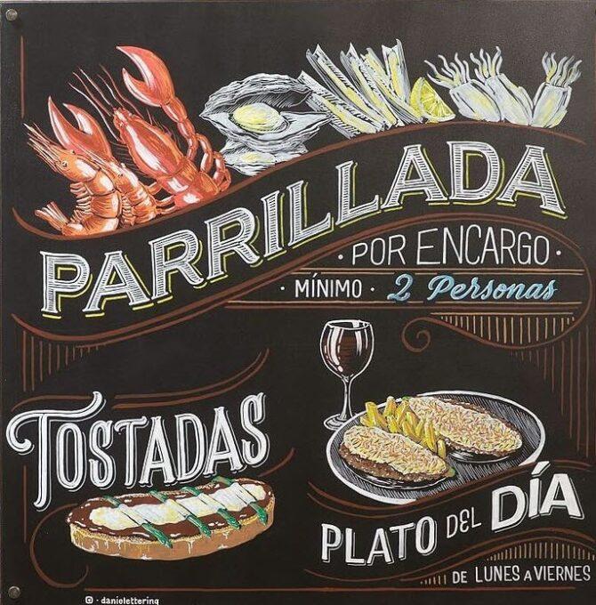 Rotulación: Pizarras Bar Ágora (Huesca)
