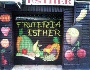 Graffiti locales comerciales - Mural decorativo en Frutería