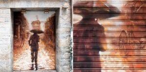 Graffiti comercial en Pamplona - Mural decorativo Bar Sirimiri Pamplona