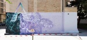 Graffiti profesional - Mural decorativo Centro de Yoga en Pamplona