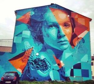 Graffiti profesional - Mural decorativo grandes dimensiones