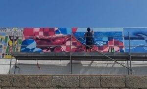 Graffiti mural - Mural para el III Certamen Internacional de Pintura Mural Amarte
