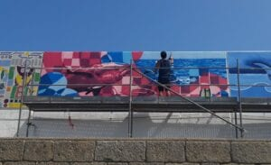 Graffiti profesional - Mural para el III Certamen Internacional de Pintura Mural Amarte