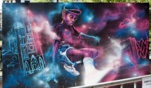 Graffiti comercial en Pamplona - Mural Hip Hop