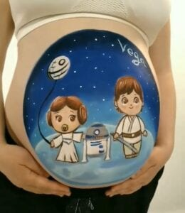 Belly Painting en Zaragoza - Barriguita pintada Star Wars