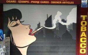 Graffiti profesional - Mural decorativo estanco de tabaco