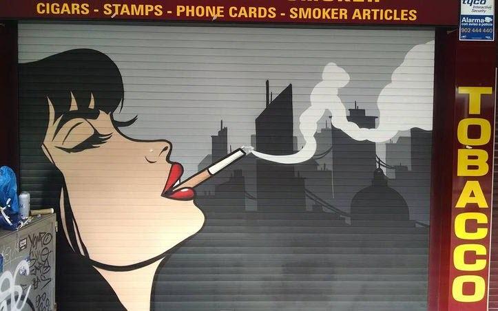 Mural decorativo estanco de tabaco