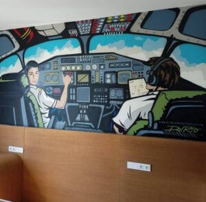 Graffitis - Habitación Infantil para un amante de la aviación