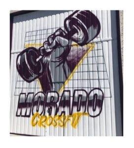 Graffiti comercial en Salamanca - Decoración de puerta Cierre con un mural
