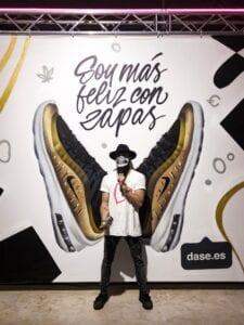 Graffiti mural - «Live painting» en evento de Madrid