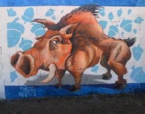 Graffiti comercial en Valladolid - Graffiti Jabalí