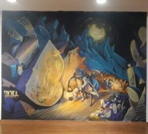 Graffiti comercial en Valladolid - Mural