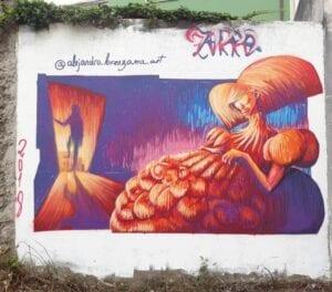 Graffiti comercial en León - Mural decorativo