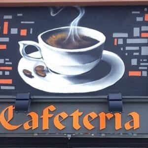 Graffitis - Mural cafetería