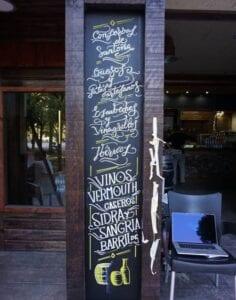 Rotulación a mano en Madrid - Rotulación a mano de cartelería