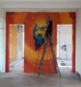 Graffitis - Mural en casa