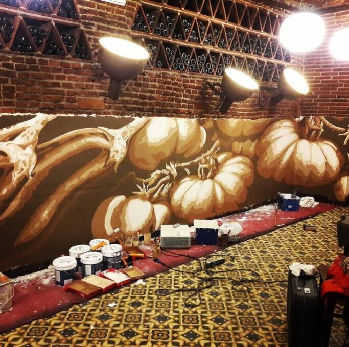 Mural decorativo restaurante