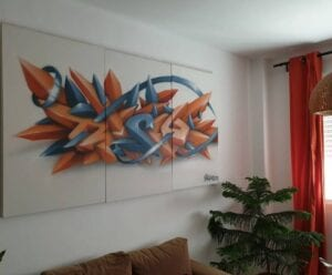 Graffiti comercial en Sevilla - Cuadro Graffiti