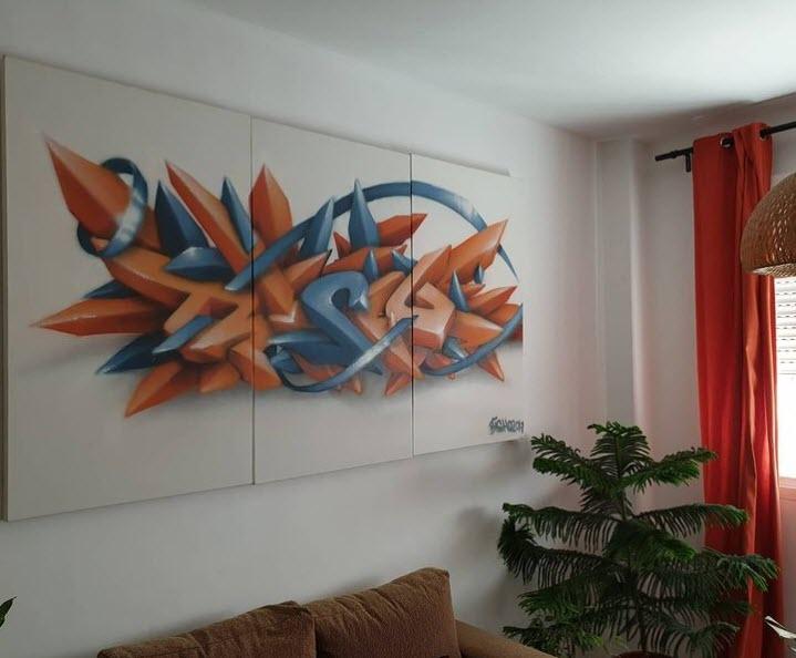 Cuadro decorativo con Graffiti para el salón
