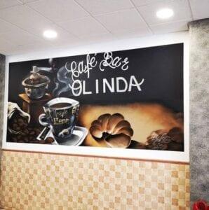 Graffiti comercial en Granada - Decoración cafetería Granada