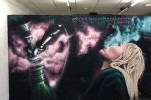 Graffiti comercial en Sevilla - Graffiti Shishas