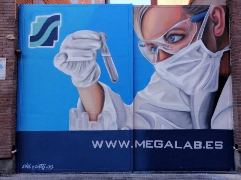 Trabajo de graffiti para laboratorio farmacéutico