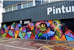 Graffitis - Mural decorativo empresa de pintura