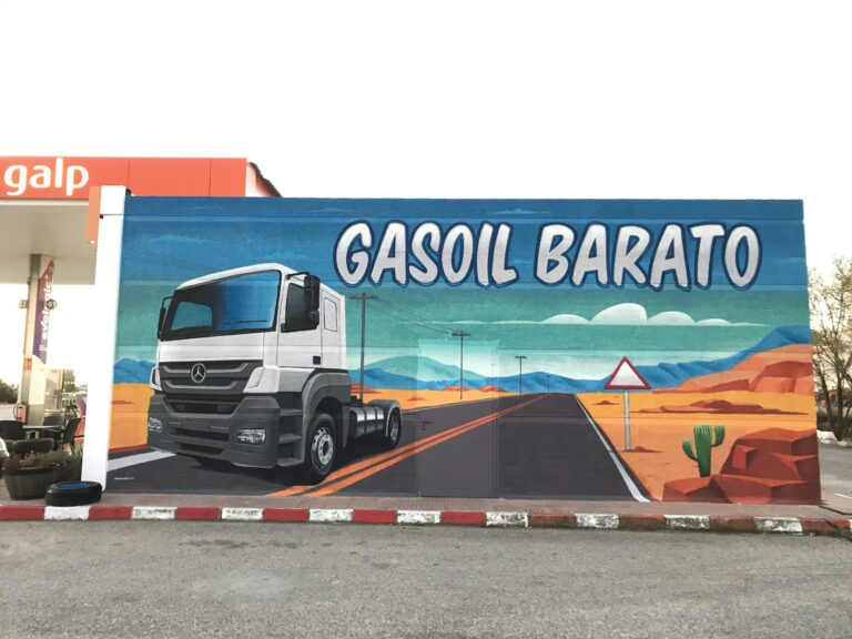 Graffiiti profesional en Gasolinera