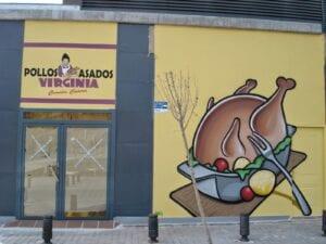 Graffiti y Rotulación en restaurantes - Graffiti decorativo para asador de pollos