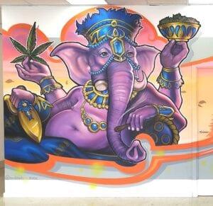 Graffiti mural - Karma grow show