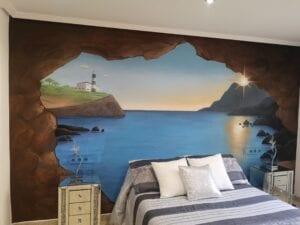 Graffitis - Mural dormitorio