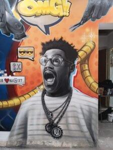 Graffiti mural - Peluquería Urban  Style en Palma de Mallorca