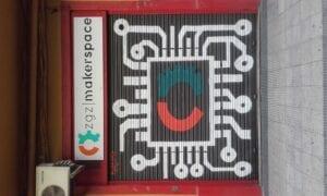 Rotulación a mano en Zaragoza - Persiana Asociación ZgzMarketspace