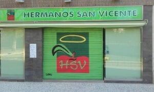 Rotulación a mano en Zaragoza - Persiana para fruteria