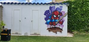 Graffiti profesional - Graffiti Spiderman cómico