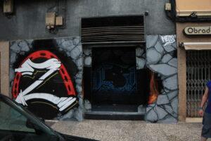 Graffiti y Rotulación en restaurantes - Graffiti decorativo en la Sala Z de Zaragoza