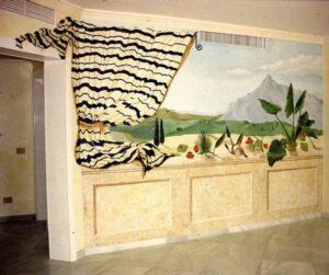Graffiti mural - Mural con paisaje