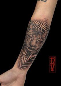 Mejores tatuajes - Tattoo realista: Lince ibérico