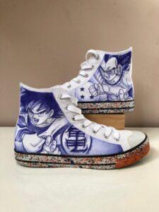 Graffitis - Custom Sneakers: Dragon ball
