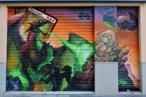 Graffiti mural - Vitruvian Freaks