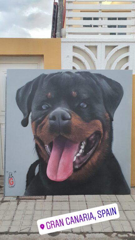 Mural perro rottweiler
